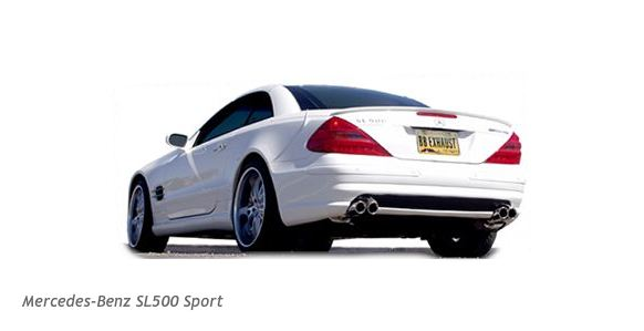 Billy Boat Quad Tip Performance Exhaust for the MB SL 500